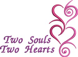 Two Souls Two Hearts embroidery design