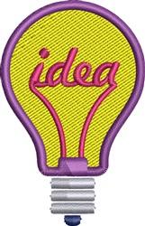 Idea Light embroidery design