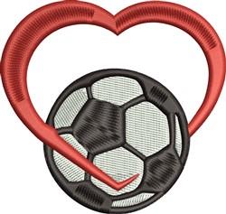 Love Soccer embroidery design