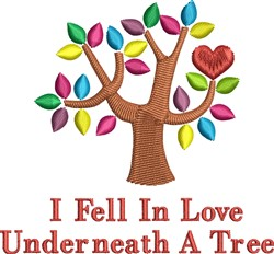 Underneath A Tree embroidery design