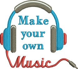 Make Your Own music Headset embroidery design