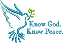 Know God Know Peace embroidery design