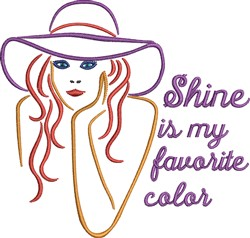 Shine Is My Favorite Color embroidery design
