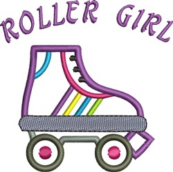 Roller Girl embroidery design