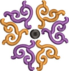 Scroll 12 embroidery design
