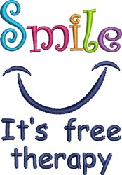 Smile Free Therapy embroidery design