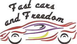 Fast Cars And Freedom embroidery design