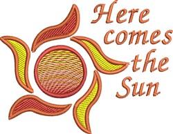 Here Comes The Sun embroidery design