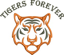 Tigers Forever embroidery design