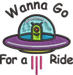 Wanna Go For A Ride embroidery design
