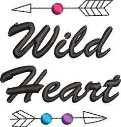 Wild Heart embroidery design