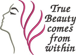 True Beauty embroidery design