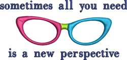 Womens Glasses embroidery design