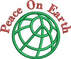 World Peace Outline embroidery design