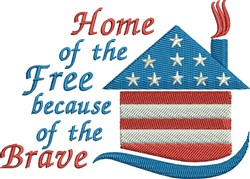American Home embroidery design