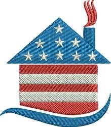 USA Home embroidery design