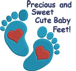 Baby Feet embroidery design