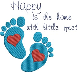 Little Feet embroidery design