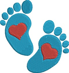 Love Feet embroidery design