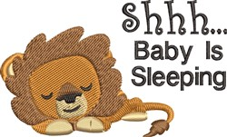 Baby Sleeping embroidery design