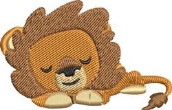 Sleepy Lion embroidery design