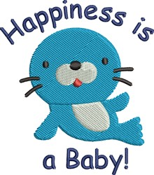 Happiness Is Baby embroidery design