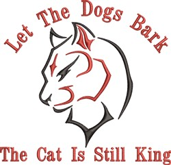 Let Dogs Bark embroidery design