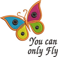 Can Fly embroidery design