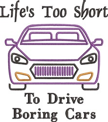 Boring Cars embroidery design