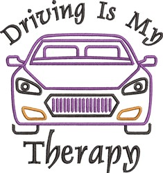 Driving Therapy embroidery design