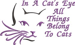 A Cats Eye embroidery design