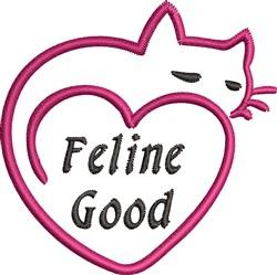 Feline Good embroidery design