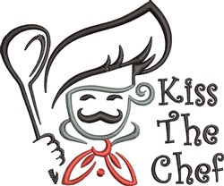 Kiss The Chef embroidery design