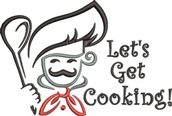 Lets Get Cooking embroidery design