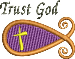 Trust God embroidery design