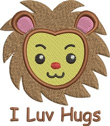 I Luv Hugs embroidery design