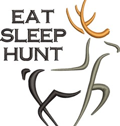 Eat Sleep Hunt embroidery design