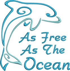 Free As Ocean embroidery design