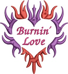 Burnin Love embroidery design
