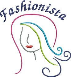 Fashionista embroidery design