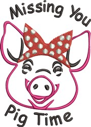 Pig Time embroidery design