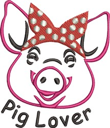 Pig Lover embroidery design