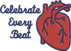 Celebrate Every Beat embroidery design