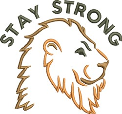 Stay Strong embroidery design