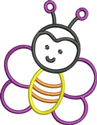 Bee Outline embroidery design