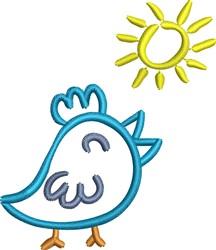 Sunshine Bird embroidery design