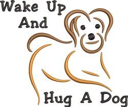 Hug A Dog embroidery design
