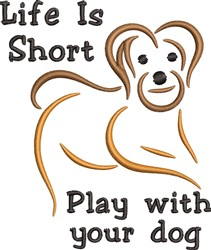 Play With Dog embroidery design