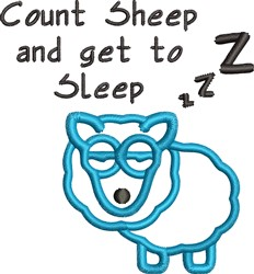 Count Sheep embroidery design