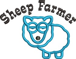 Sheep Farmer embroidery design